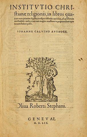 Наставление в христианской вере, Женева, 1559