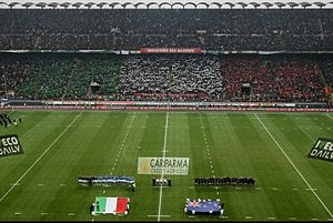 Italy national rugby union team - Italy vs All Blacks at San Siro with Record 80,000 Sold Out Crowd. (Nov. 2009)