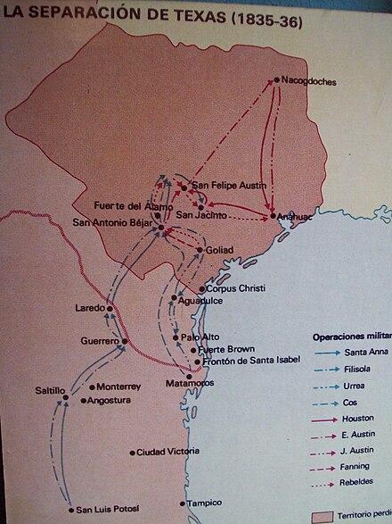 Independencia De Texas Wikiwand - Mapa de texas