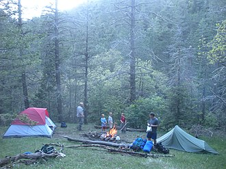 White Mountain Wilderness - Image: Camping Wilderness