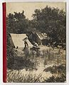 Camping scene (front cover of album) from Camping trips on Culburra Beach by Max Dupain and Olive Cotton (12825200833) (2).jpg