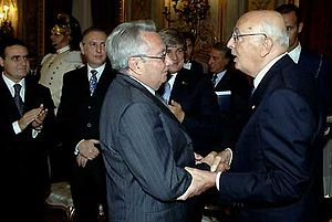 Candido Cannavò - Candido Cannavò and Giorgio Napolitano