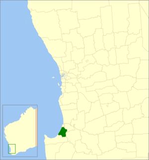 Shire of Capel - Location in Western Australia