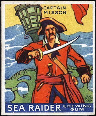 Libertatia - Captain Misson, described by Johnson as founder of fictional Libertalia