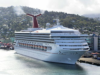 Destiny-class cruise ship - Image: Carnival Destiny in Castries, St. Lucia 2