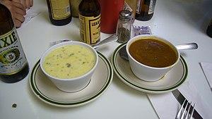 Oyster stew, gumbo. Casamento's restaurant, Ne...