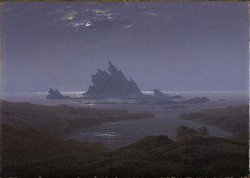 Caspar David Friedrich - Felsenriff am Meeresstrand (1824)