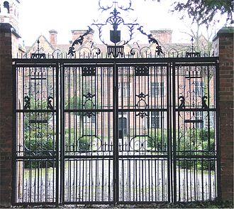 Castle Bromwich Hall - Castle Bromwich Hall viewed through iron gates