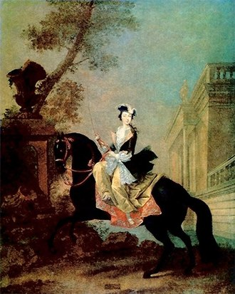 Catherine the Great - Equestrian portrait of the Grand Duchess Yekaterina Alexeyevna