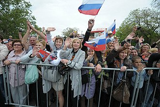 Republic of Crimea - Sevastopol, Crimea, 9 May 2014, the celebration of the Victory Day