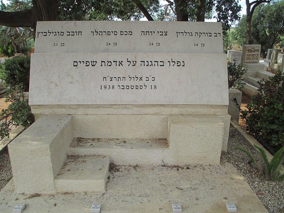 Cemetery in Kibbutz Shfayim