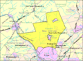 Census Bureau map of Hopewell Township, Mercer County, New Jersey.png
