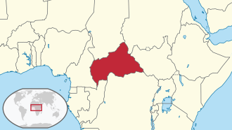 Central African Republic in its region.svg