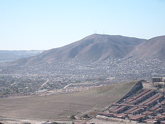 Tijuana - Colorado Hill, the highest elevation of Tijuana.