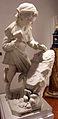 Cesare zocchi, michelangelo fanciullo che scolpisce la testa del fauno, 1890 ca., 01.JPG