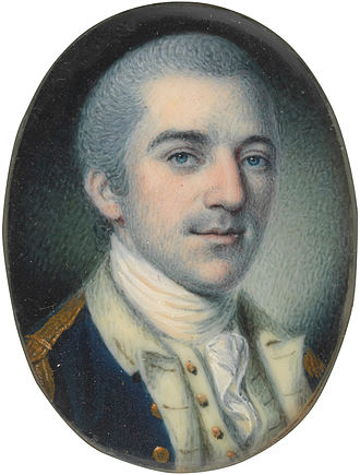 John Laurens - A 1780 miniature portrait of Laurens, by Charles Willson Peale