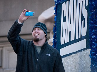 Chase Blackburn - Blackburn at a parade celebrating the Giants' victory in Super Bowl XLVI.