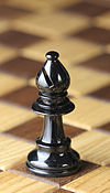 Chess piece - Black bishop.JPG