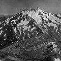 Chiginagak Volcano and Glacier, icefall and terminus of valley glacier, August 24, 1960 (GLACIERS 7069).jpg