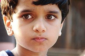 English: Child (close-up).