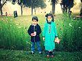 Children stands in Shalimar Gardens, Lahore.jpg