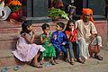 Children with Asta Santra - Hatanakhya Mahadev Mandir Stairs - Bainan - Howrah 2015-04-14 8009.JPG