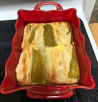 Chile relleno - Image: Chile Relleno casserole