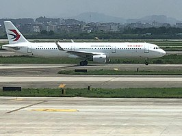Een Airbus A321 van China Eastern Airlines
