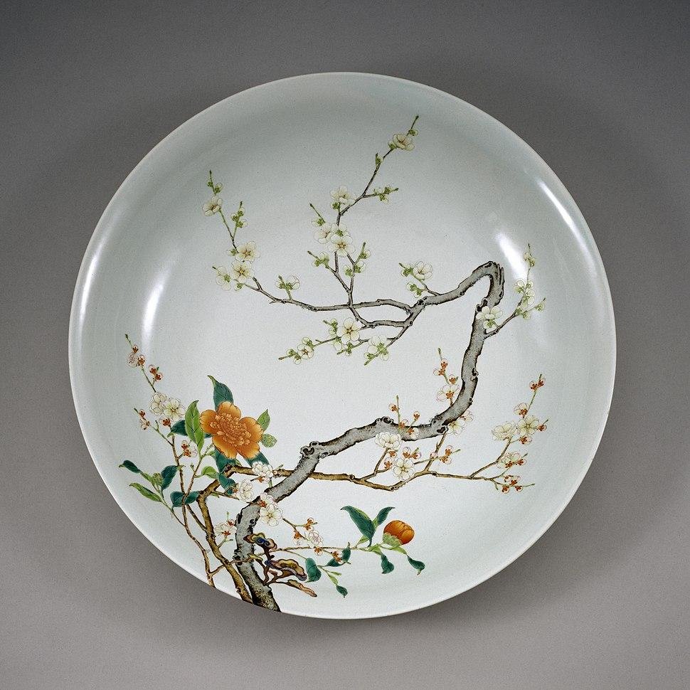 Chinese - Dish with Flowering Prunus - Walters 492365 - Interior