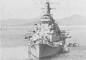 8th Fleet (Imperial Japanese Navy) - Japanese cruiser Chōkai, flagship of the IJN 8th Fleet in 1942