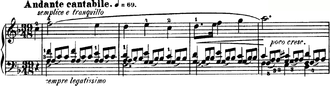 Nocturnes, Op. 15 (Chopin) - The opening bars of No. 1 in F major.