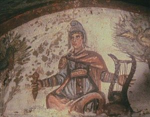 Catacombs of Marcellinus and Peter - Image: Christ Orpheus from Rome catacombe
