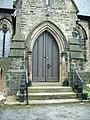 Christ Church, Friezland, Grasscroft, Doorway - geograph.org.uk - 1160227.jpg