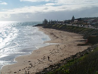 Christies Beach, South Australia - View of the Christies Beach coastline from Witton Bluff