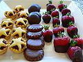Christmas fare - mince pies, chocolate biscuits and chocolate-dipped strawberries.jpg