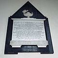 Church of the Holy Cross Great Ponton Lincolnshire England - William Potchett chancel north plaque.jpg