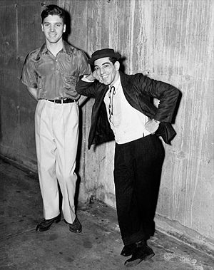 Burt Lancaster - Lancaster and Nick Cravat, performing with the Federal Theatre Project Circus (1935–38)