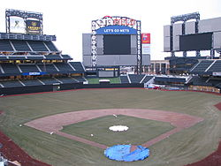 Citi Field, nearly completed in February 2009