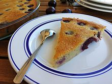 Clafoutis Is A Baked French Dessert Of Fruit Traditionally Black Cherries Arranged In A Buttered Dish And Covered With A Thick Flan Like Batter