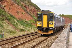 Class 153 on the sea wall near Dawlish (4897).jpg