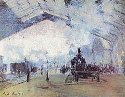 A steam locomotive in art (1877, Claude Monet)