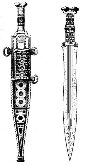Gladius - A sword of the Iron Age Cogotas II culture in Spain