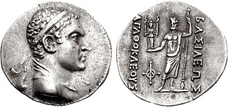Hecate - The coins of Agathocles of Bactria (ruled 190-180 BCE), show Zeus holding Hecate in his hand.