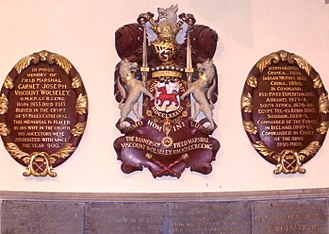 Wolseley baronets - Wolseley memorials at St Michael and All Angels Church in Colwich, Staffordshire
