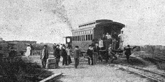 Buenos Aires Midland Railway - A train in the Puente Alsina-Puente de la Noria section, 1908.