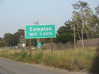 Compton, California - Highway sign for Compton