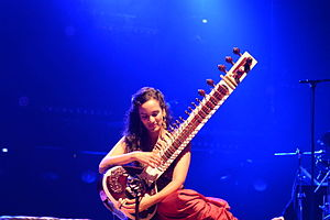 Anoushka Shankar - Anoushka Shankar in Lorient Interceltic Festival in 2014