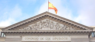 Congress of Deputies - The allegorical front of the building