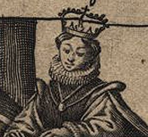 Constanza Manuel - Effigy of Constance Manuel in a 1645 Genealogy of the Kings of Portugal (National Library of Portugal)