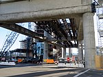 Construction of Airport Hotel AirTrain station (3), August 2018.JPG
